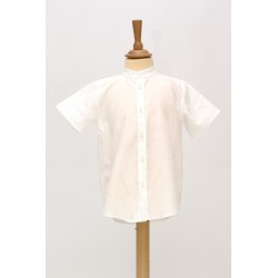 Chemise Peter Pan manches courtes