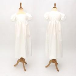 Robe Pimprenelle noeud avec ruban jaune pale