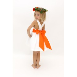 Robe Ondine ceinture orange et jupon