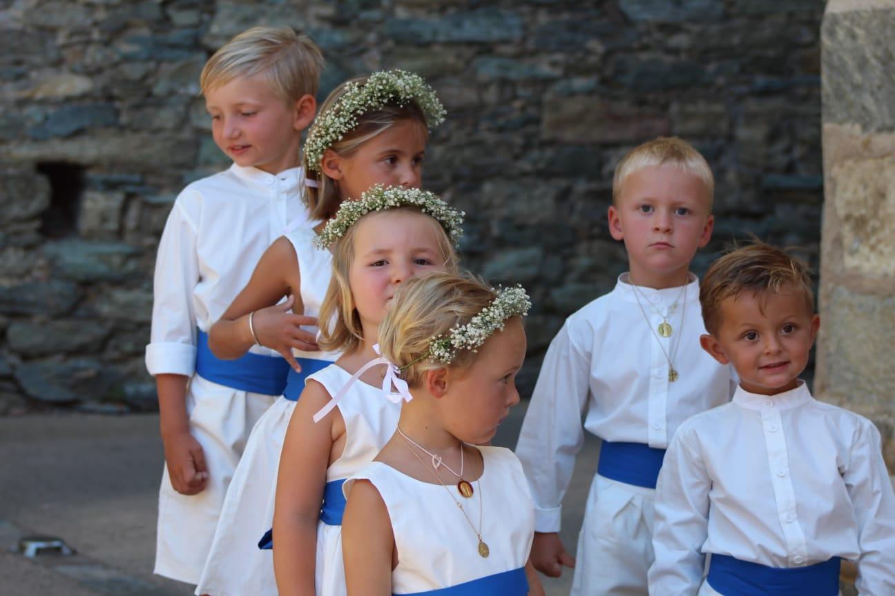 Enfants d'honneur cortège mariage Les petits choux de Bruxelles