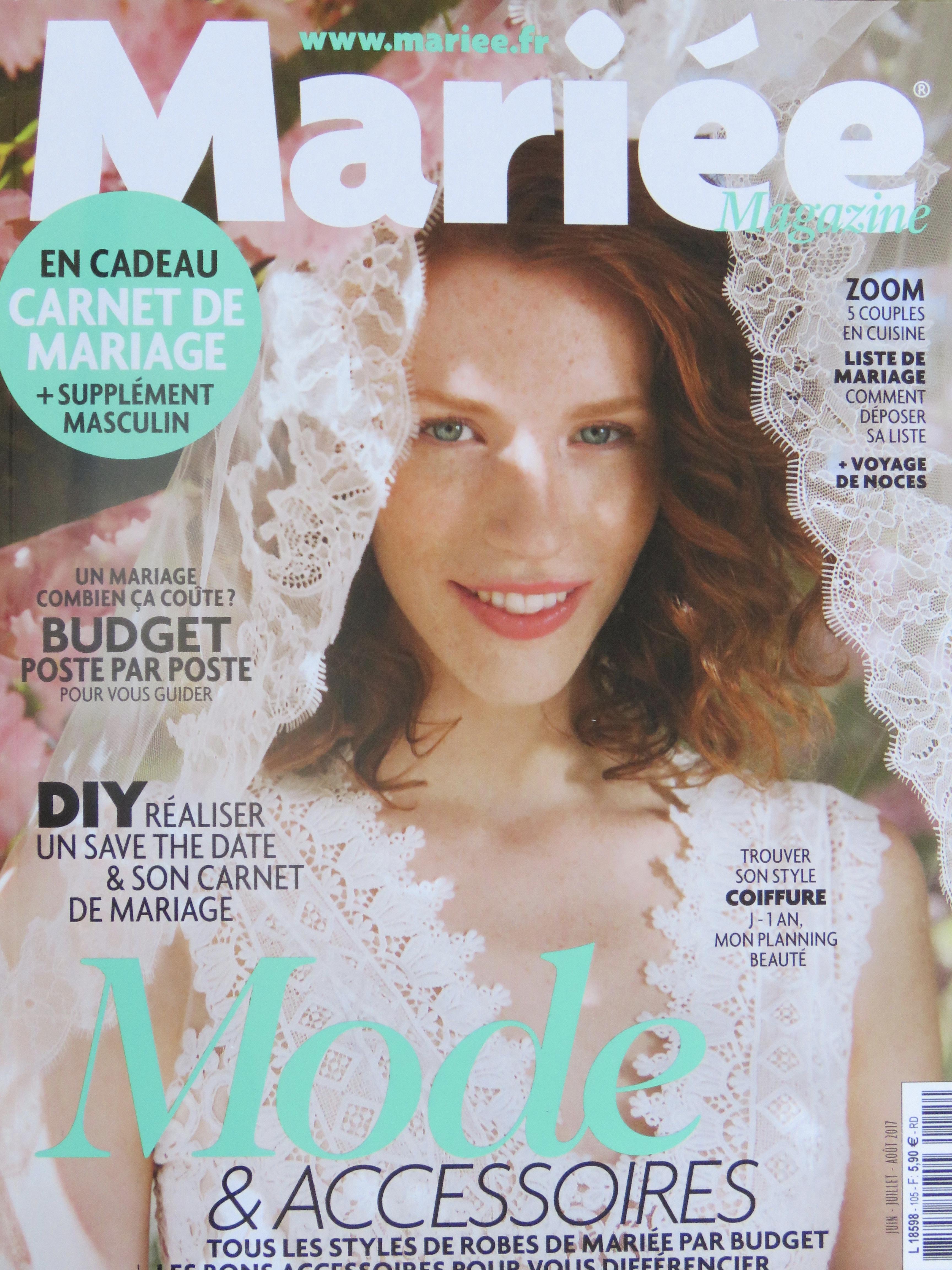Couverture Mariée Magazine Juin-Aout 2017