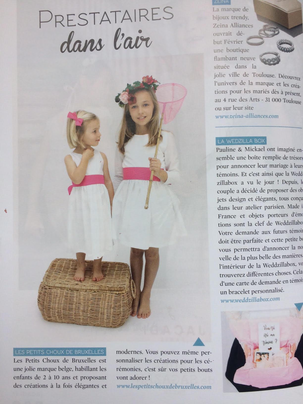 Les petits choux de Bruxelles dans le Wedding Magazine n°9