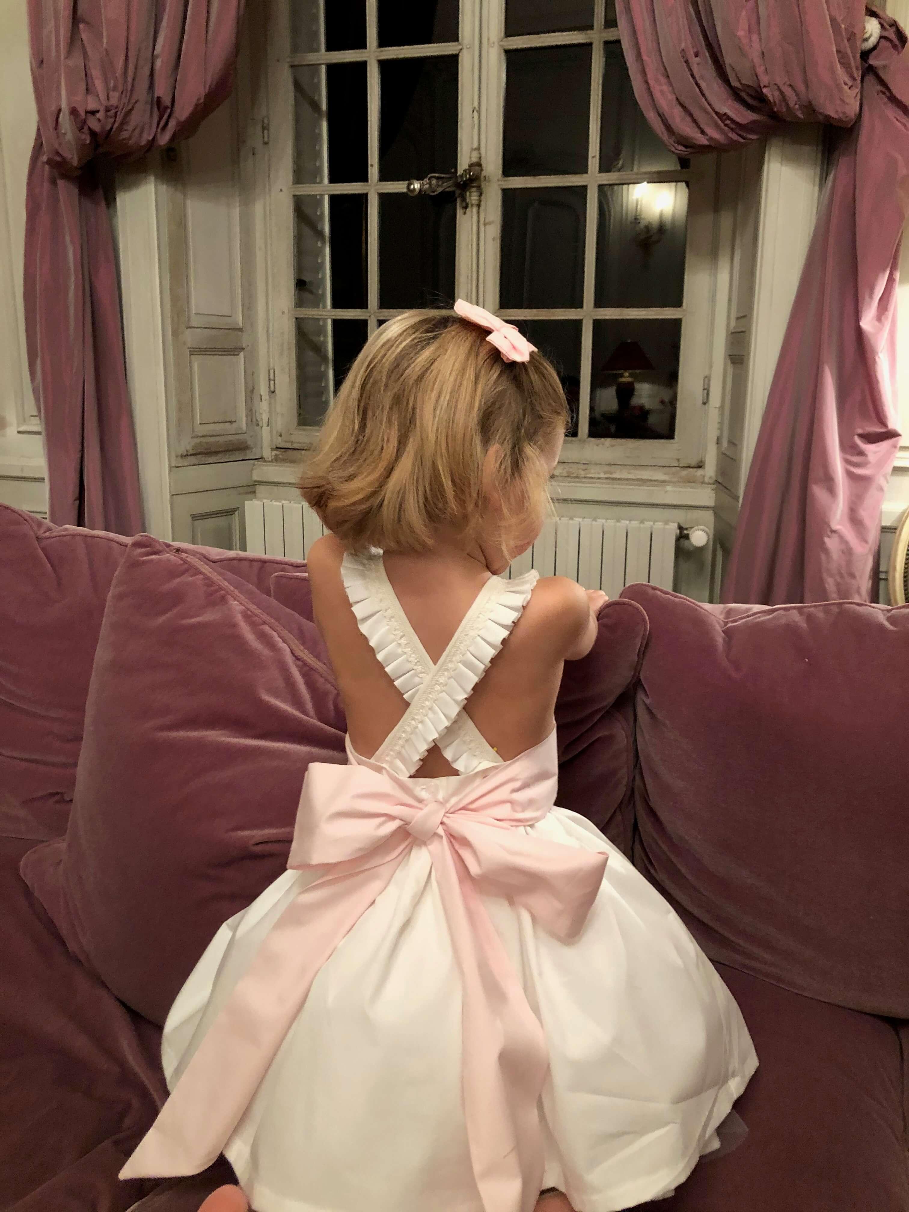robe-ceremonie-fille-bretelle-plissee