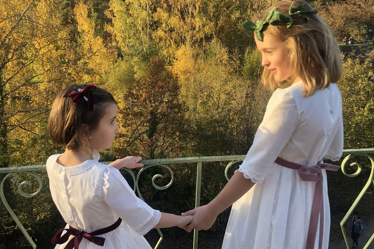 Josephine and Clochette half season dresses, perfect for all your ceremonies (wedding, communion, family celebrations).
