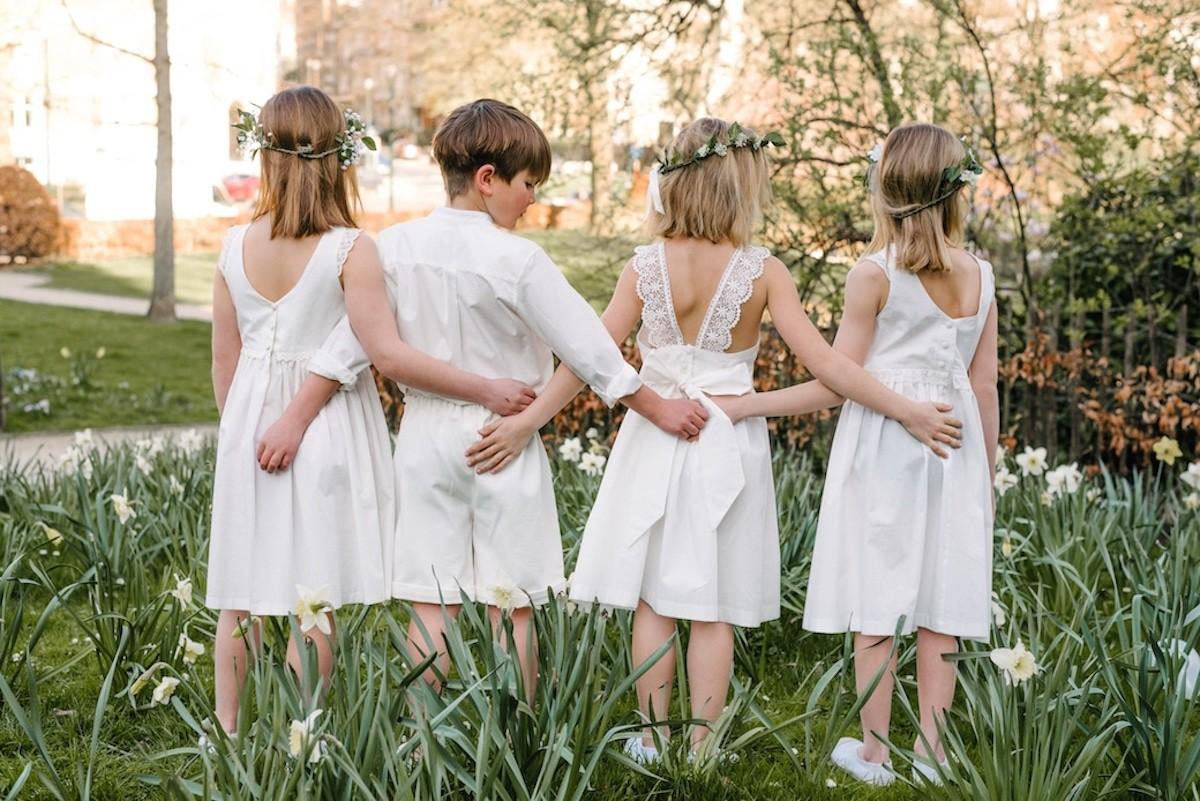 gepersonaliseerde communie outfit, witte communie jurk