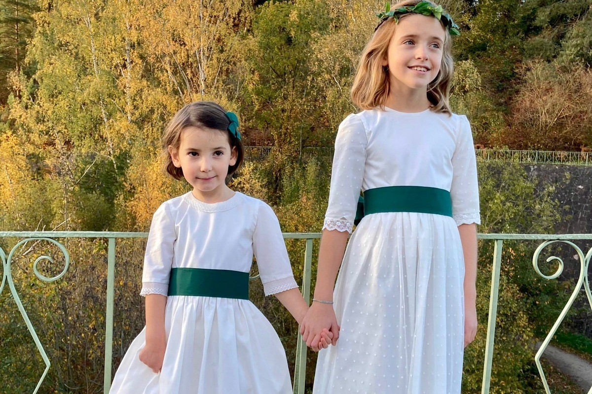 Robes de demoiselle d'honneur ou robes de communion Les petits choux de Bruxelles